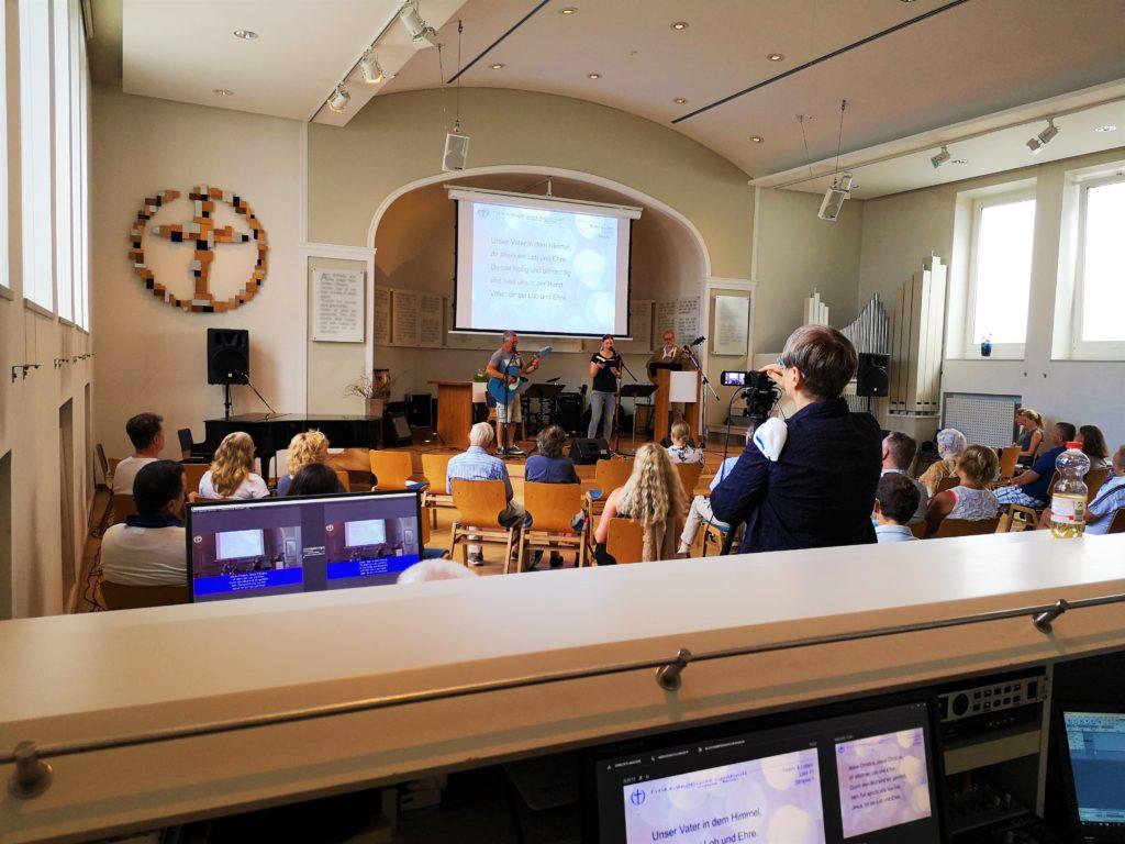Freie evangelische Gemeinde Wuppertal Barmen - Online Gottesdienst Technik